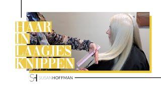 HOE KNIP THUIS JE HAAR IN LAAGJES | HAIR